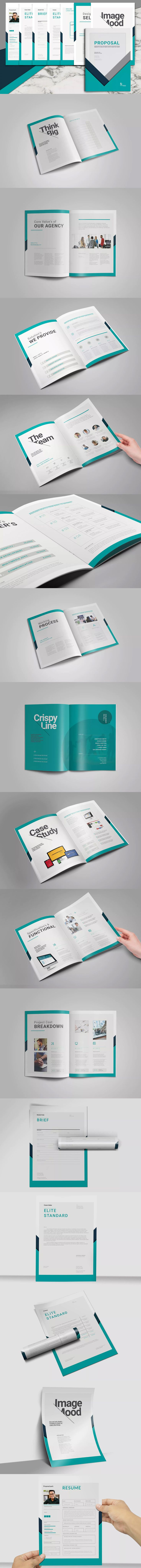 Proposal Pitch Pack Template InDesign INDD A4