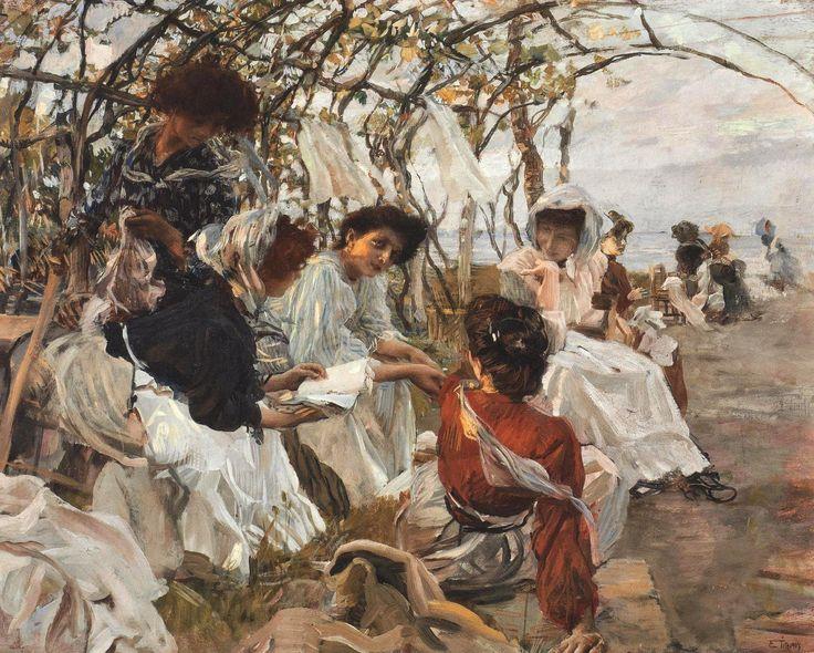Ettore Tito - The Reading [1907]