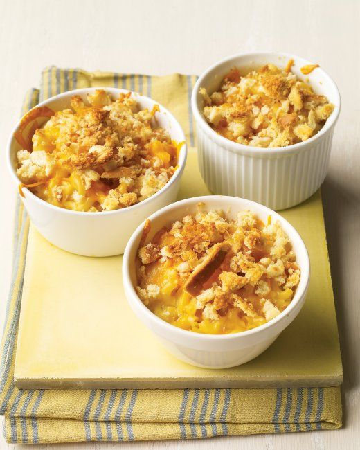 Southern Mac and Cheese.  Homemade mac and cheese is often prepared with a flour-based sauce. This Southern version uses a base of eggs and half-and-half for a tasty, custardy alternative.      prep: 15 mins     total time: 40 mins     servings: 4