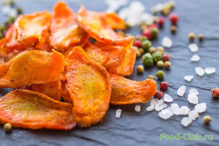 Морковные чипсы. Экочипсы. Рецепт полезных чипсов / С овощами и с грибами / Кулинарные рецепты - Фуд-клаб.ру