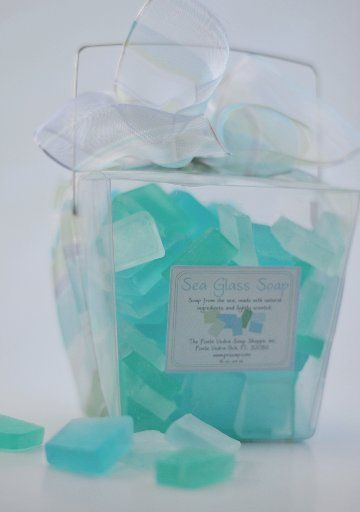 Sea Glass Soap Recipe (Melt and Pour) cute party favor for a beachy party