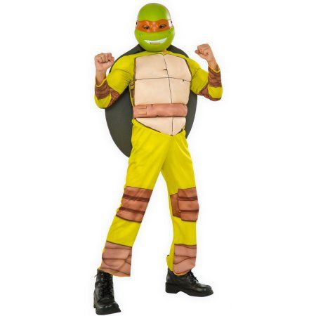 TMNT Turtle Boys Kids Pad Muscle Costume Outfit Set Halloween Party Dress