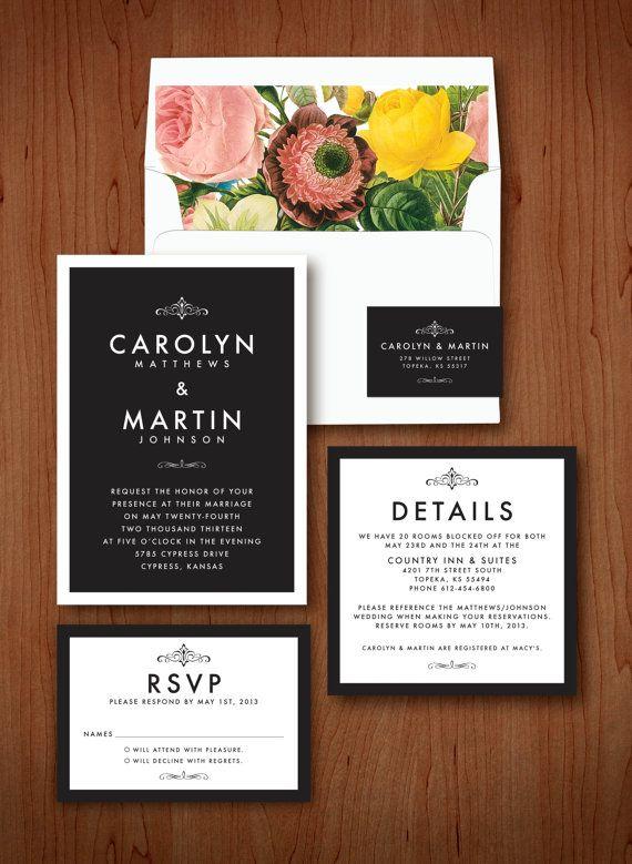 Love the typeface. Modern Elegant Wedding Invitation  Deposit by QuiteFetchingInvites, $100.00