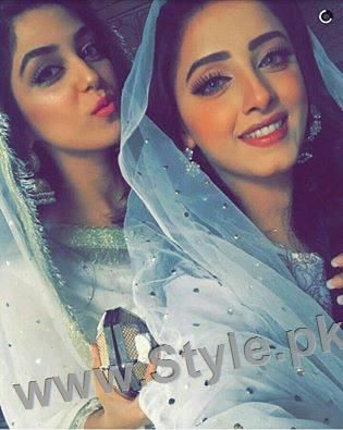Maya Ali and Sanam Chauhdry at Nikkah Ceremony of Actor Wahaj Ali | Style.Pk