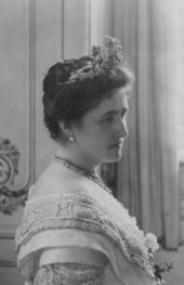 The Princess Bathildis of Schaumburg-Lippe (1873-1862). She was a daughter of The Prince Wilhelm and his wife, The Princess Bathildis of Anhalt-Dessau. She was Sovereign Princess of Waldeck and Pyrmont (1895-1946) as the wife of Sovereign Prince Friedrich. Her children were The Hereditary Prince Josias, The Princes Maximilian and Georg, and The Princess Helene.