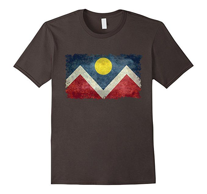 Men's Vintage City Of Denver Flag T Shirt 3XL Asphalt #denver #denvertee #denverflag #colorado