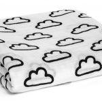 Organic Muslin Swaddle Blanket - Clouds - Minou Kids