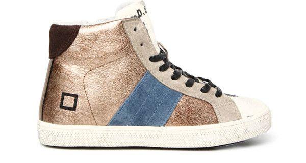 D.A.T.E. Kids: le scarpe in pelle laminata della nuova collezione [FOTO]