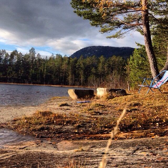 Lake In Norway Autumn