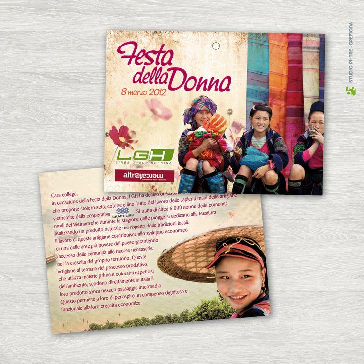 Flyer LGH Festa della Donna 2012 © Studio Pi Tre (Cremona - Italy)