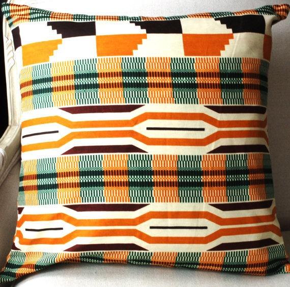 Summer Kente Tribal Pillow Cover