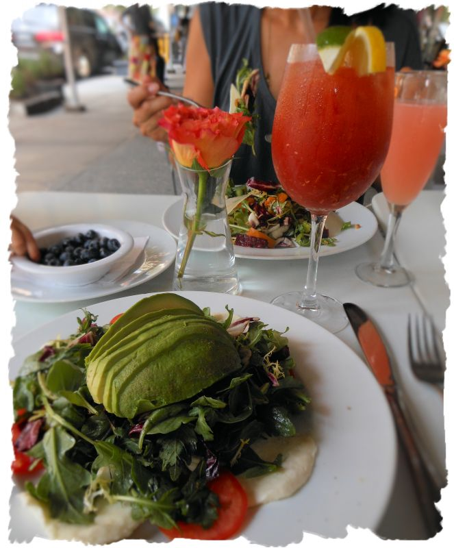 Avacado Salad, healthy meals, Bloody Mary, vegitarian