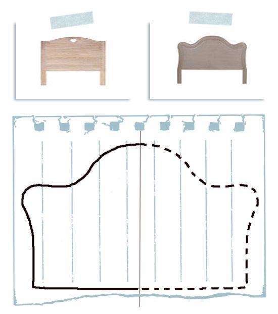 Oltre 25 fantastiche idee su testata del letto in legno su - Testata letto imbottita fai da te ...