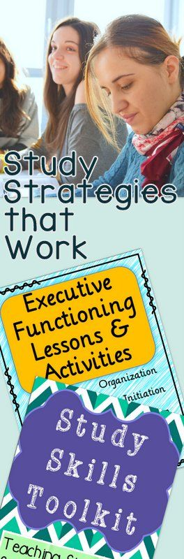 Executive Functioning and Study Skills - lessons, worksheets, activities, goal setting, and more