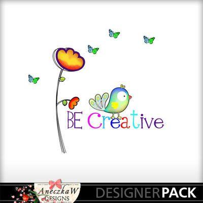 Be Creative Word Art Freebie
