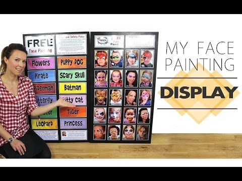 My Face Painting Display / Menu Board - YouTube