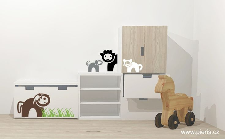 Samolepky na zeď zvířátka z farmy s nábytkem #IkeaStuva# #farma# #samolepky# #wallsticker#