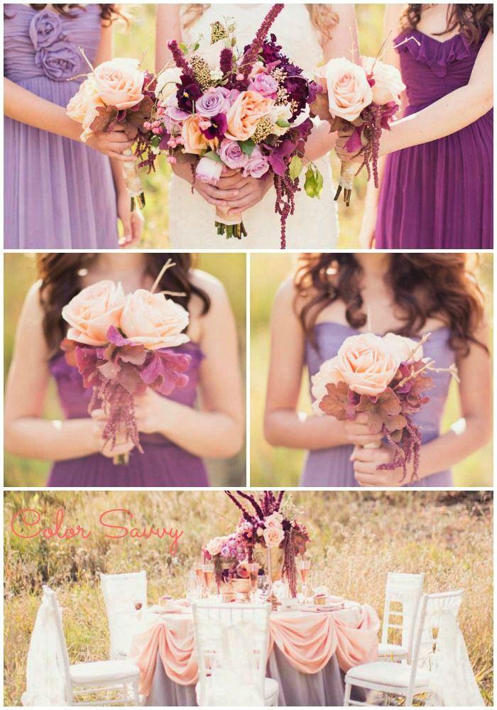 Plum, Lavender, Peach