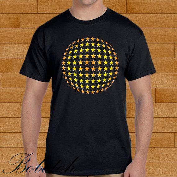 starball on black design for men and women t-shirt by bobotooh