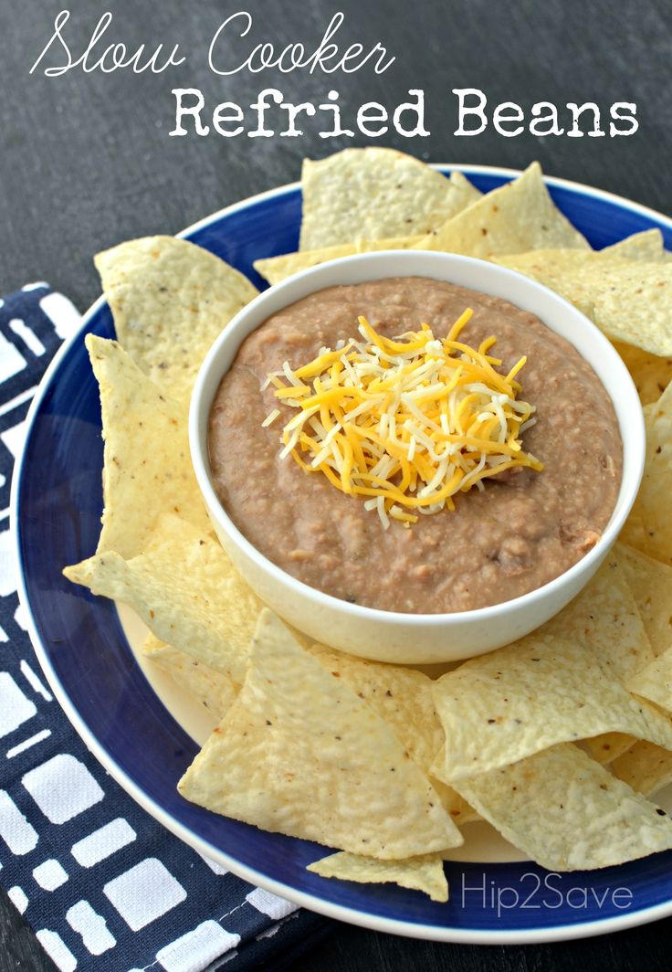 Slow Cooker Refried Beans by Hip2Save (It's Not Your Grandma's Coupon Site!)