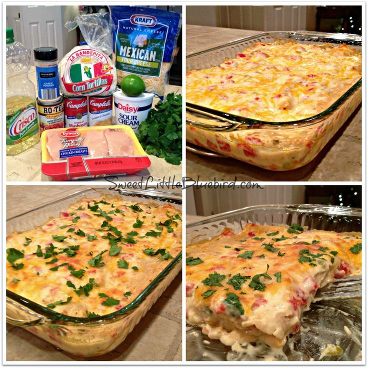Sweet Little Bluebird: Chicken Enchilada Bake