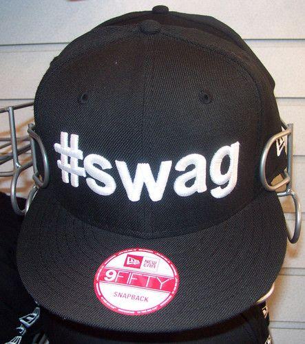 New Era 9Fifty 950 Black Hashtag Swag Flat Brim Bill Snapback Baseball Cap Hat | eBay