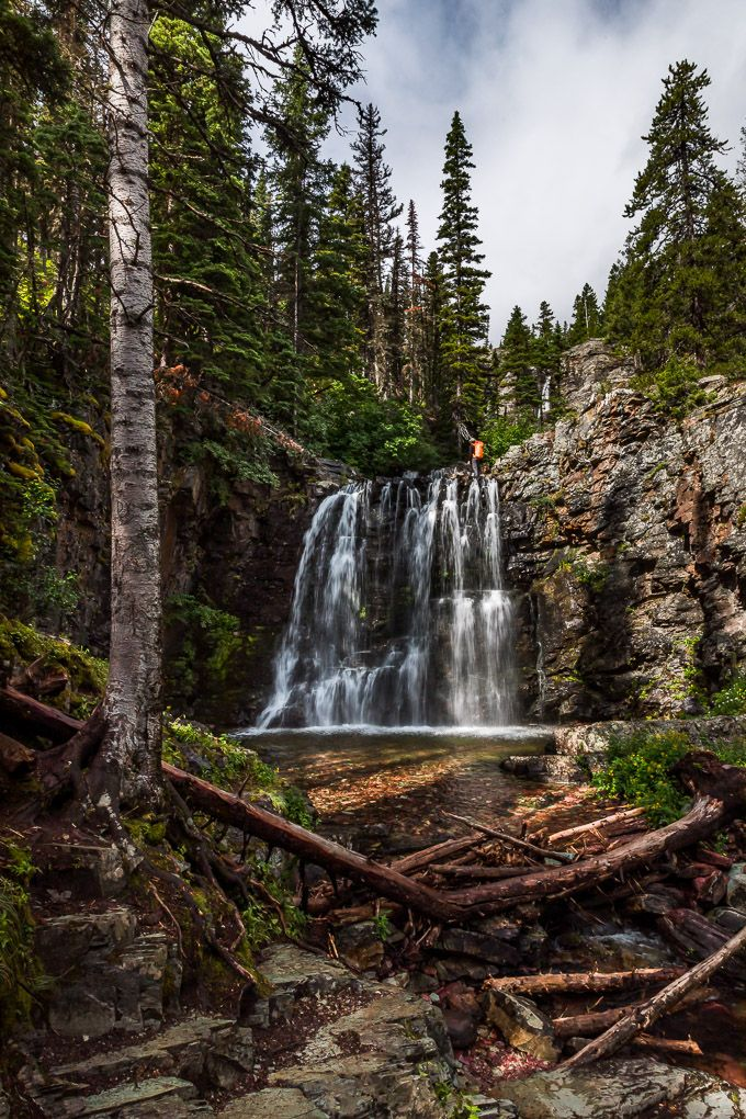 Rockwell Falls in Glacier National Park
