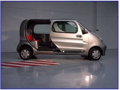 """The """"Mini Cat"""". World's first Air Powered car, zero emissions, in the Market next summer. Made in India by TATA Motors"""