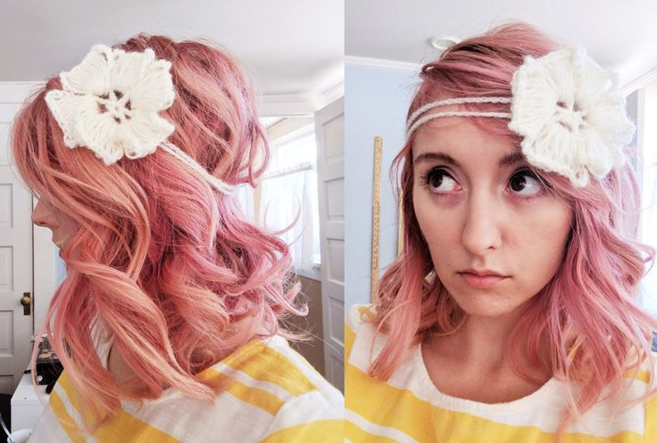 free crochet flower headband