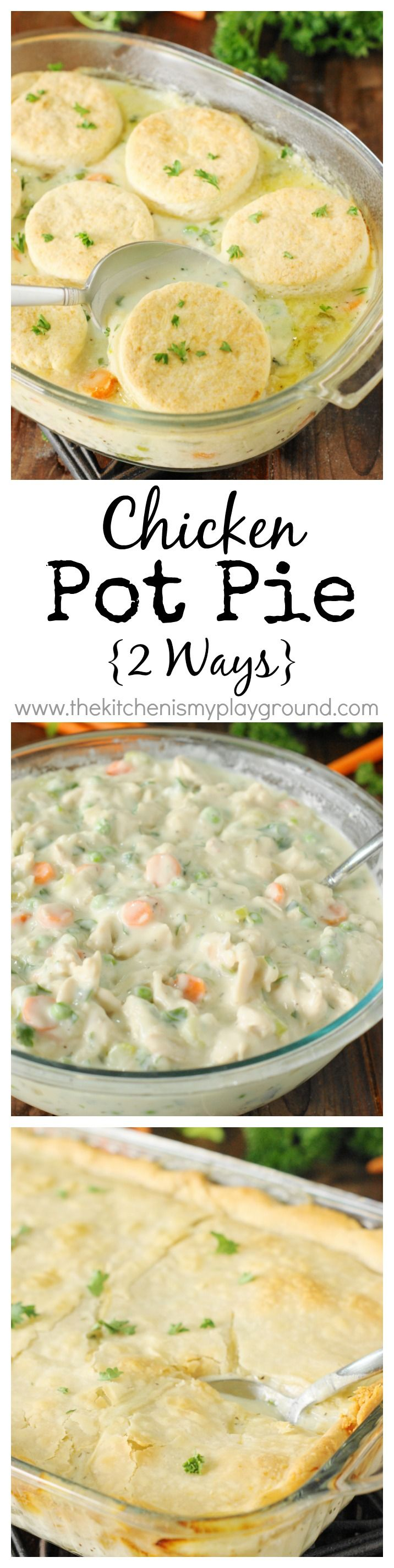 ... Pie Crust or Biscuit Topping} | Chicken Pot Pies, Pot Pies and Pie