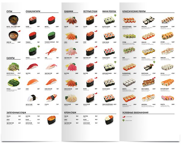 Sushi menu. Amsterdam-café on Behance