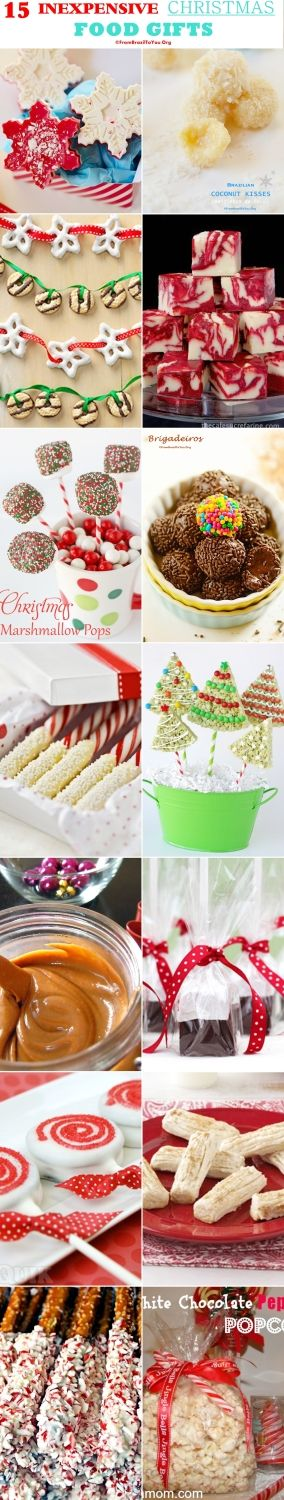 15 INEXPENSIVE Holiday Food Gifts -- they are popular, easy,  and super tasty.