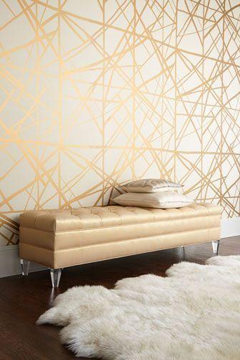 Lynn Chalk - Kelly Wearstler Channels Copper/Beige Wallpaper, $277.19 (http://store.lynnchalk.com/kelly-wearstler-channels-copper-beige-wallpaper/)