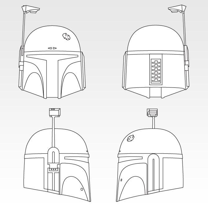 Boba Fett Helmet Template