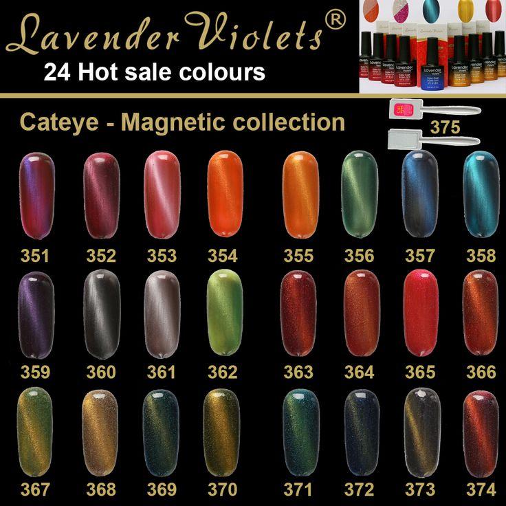 D351-362 Lavanda Violets Magnetico Occhi di Gatto 8 ml Soak Off UV Del Chiodo Gel Smalto di Lunga Durata Per Unghie Gel Del Chiodo Del LED lacca
