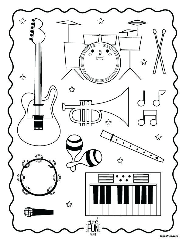 music coloring page instrument music note coloring pages
