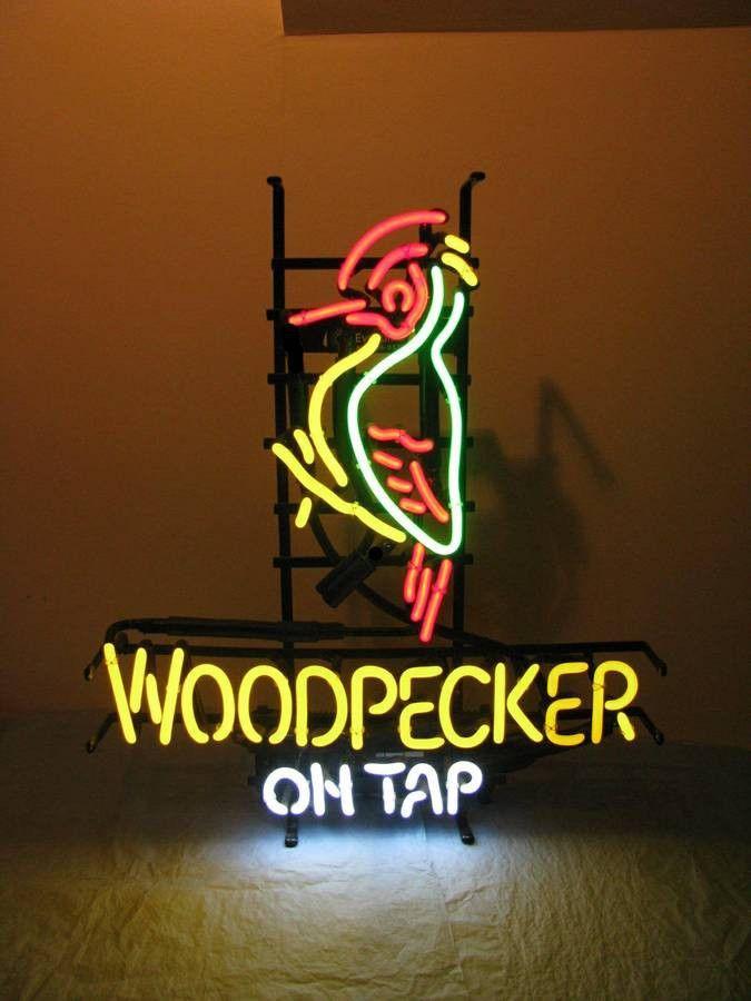 Woodpecker Cider On Tap Neon Sign Glass Tube Neon Light
