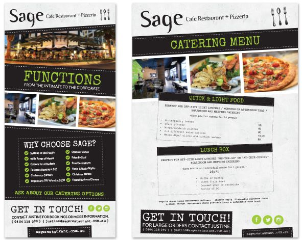 It's a mouth-watering job but someone's gotta do it! Menu design for the team at Sage Restaurant. www.sagerestaurant.com.au