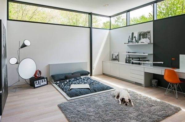 Sunken beds –a more unusual and modern alternative for the bedroom. Not recommended for older folk though - might be difficult to get up from a flat surface.