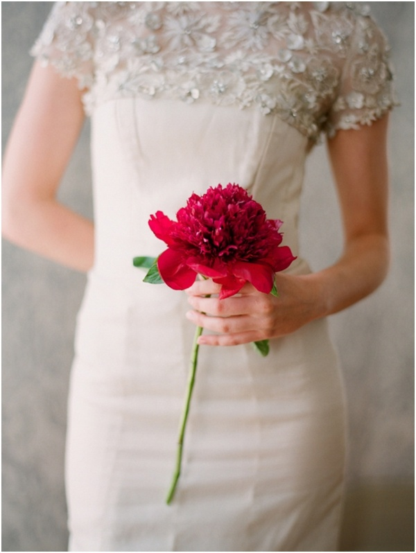 single bloom: Wedding Dressses, Bridal Poses, Flowers Bouquets, Beautiful Photos, Red Flowers, Sparkly Dresses, Single Flowers, The Dresses, Red Wedding