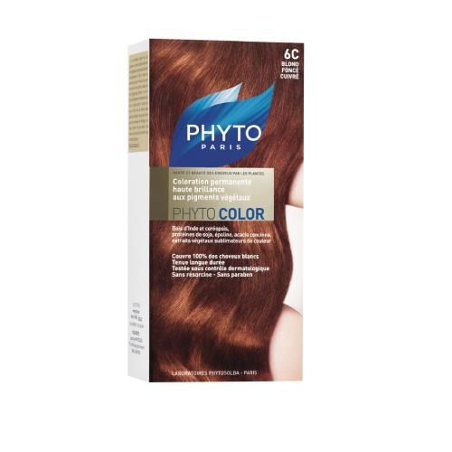 Phyto Phyto Color Tinte Rubio Oscuro Cobrizo - 6D Con extractos de plantas tintóreas (de 57 a 61% según el tono).