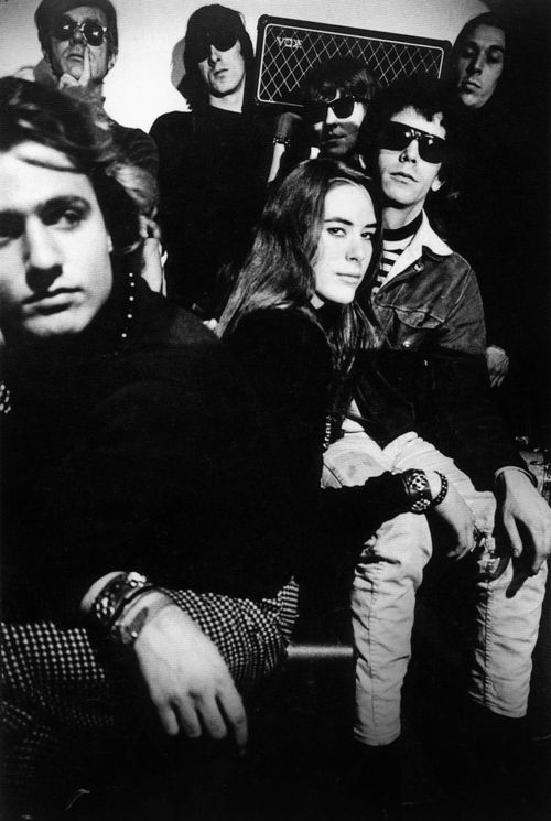 The Velvet Underground with Gerard Malanga, Andy Warhol and Mary Warnov at the Factory, NYC, 1966