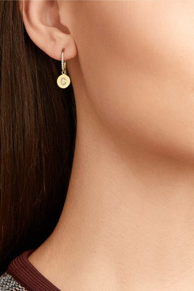 Jennifer Meyer - 18-karat Gold Diamond Earring - P