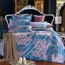 Роскошные постельные принадлежности постельное белье постельное белье жаккард шелк / хлопок 4 шт. утешитель постельных принадлежностей пододеяльник установить полный / королева / король покрывало(China (Mainland))