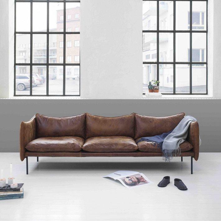 Pur Norsk Tiki 3 Seter Skinn Sofa Design Mobelideer Stuedesign