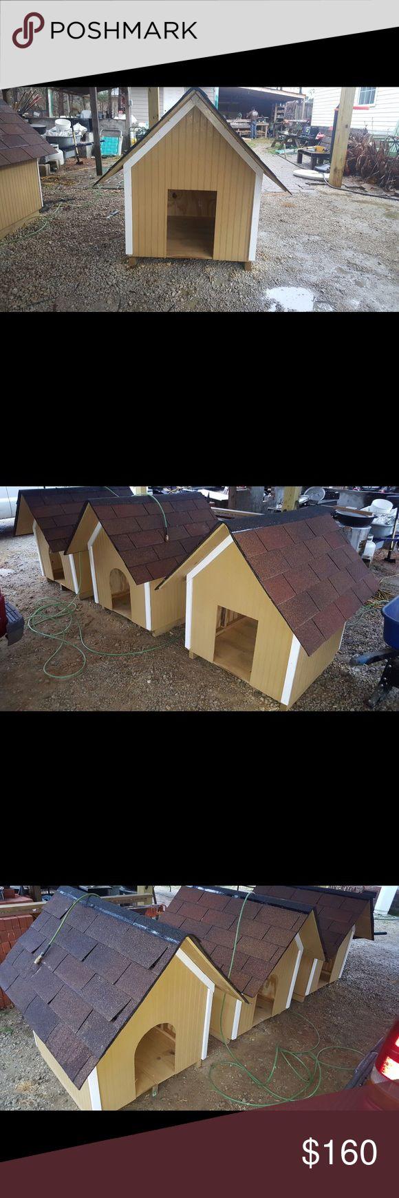 "Dog Houses Newly Built  •32""x32"" Houses •45"" Tall •1/2"" treated plywood floors •Treated blocks under house •20 Year shingles  $160 Each Other"