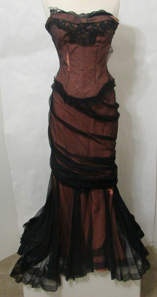 """DONA DRAKE Vintage Period Gown Screen Worn in """"Another Part of the Forest"""" 1948   