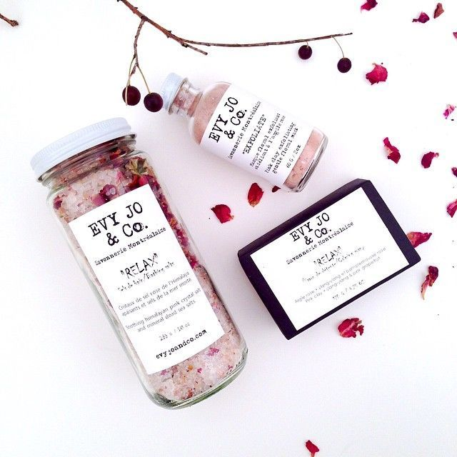 Evy Jo and Co is a Chic Montreal-Based Natural Skincare Range #branding trendhunter.com