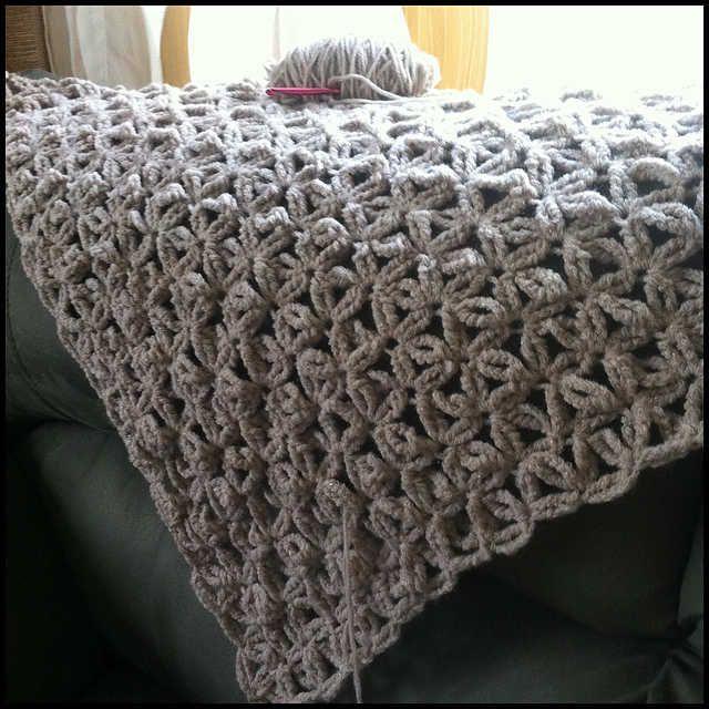 pattern for chunky crochet blanket - Google Search
