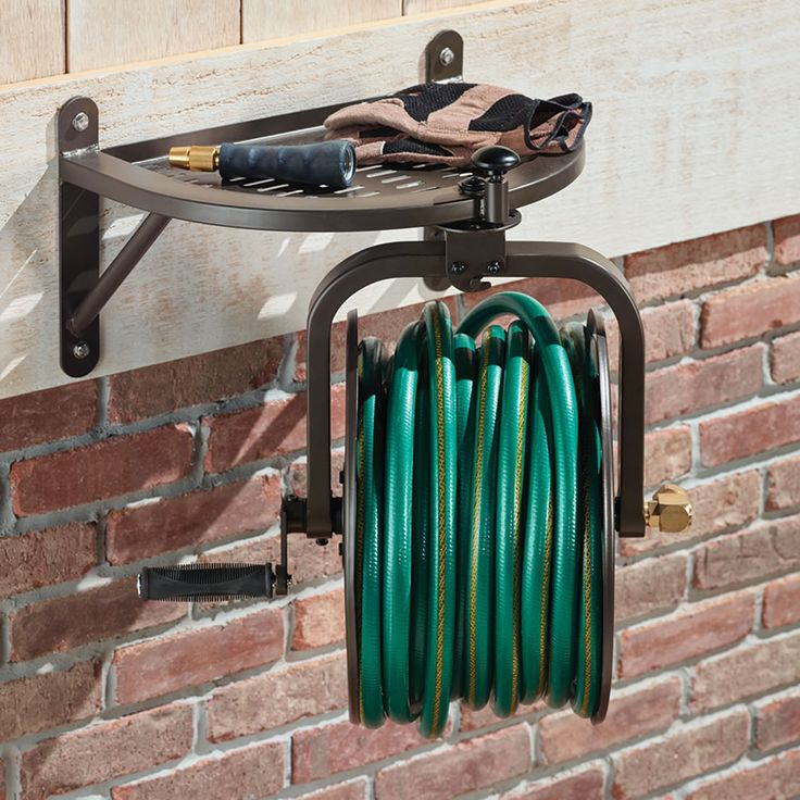 The Perfect Pivot Hose Reel - This is the reel that rotates 360° horizontally, enabling easy hose usage. Unlike conventional fixed-position reels that impede a hose's extraction or tip over altogether when a gardener's frustration leads to yanking, this one has a pivoting cylinder that naturally swings to whichever direction a hose is being pulled, enabling convenient watering without the need to reposition a wheeled reel or walk back to the reel to pull out more slack in the desired…